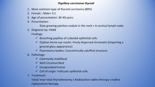 Papillary CA thyroid
